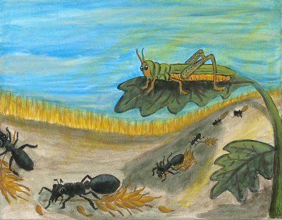 Aesop's Grasshopper and the Ants