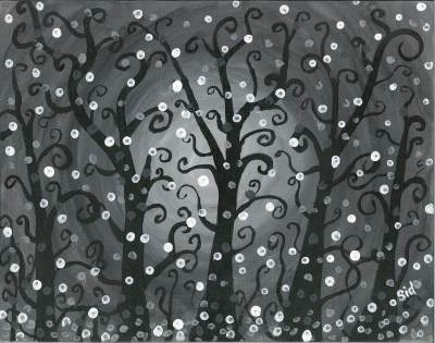 B&W Fanciful Trees