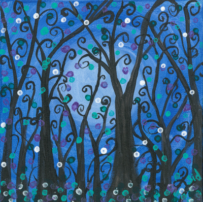 Blue Fanciful Trees